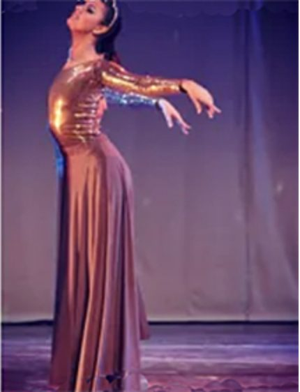 Conservatory of Music student Isabella Schiavon dancing